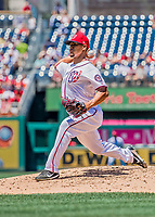 9 July 2017: Washington Nationals starting pitcher Joe Ross on the mound in the second inning against the Atlanta Braves at Nationals Park in Washington, DC. The Nationals defeated the Atlanta Braves to split their 4-game series going into the All-Star break. Mandatory Credit: Ed Wolfstein Photo *** RAW (NEF) Image File Available ***