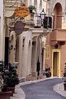 Victoria, Gozo. - Residential Street.