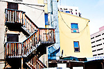back alley behind Gold Range
