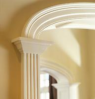 Arched doorway molding details