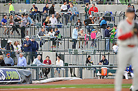 Fans of the Columbia Fireflies watch the action in the home opener against the Greenville Drive on Thursday, April 14, 2016, the team's first day at the new Spirit Communications Park in Columbia, South Carolina. The Mets affiliate moved to Columbia this year from Savannah. Columbia won, 4-1. (Tom Priddy/Four Seam Images)