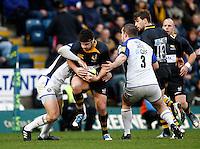 Photo: Richard Lane/Richard Lane Photography. London Wasps v Bath Rugby. LV=Cup. 14/11/2010. Wasps' Rob Webber attacks.