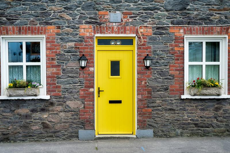 Door of house in Dingle, County Kerry, Ireland