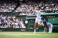 11th July 2021, Wimbledon SW London England, AELTC Wimbledon Tennis Championships, mens final, Novak Djokovic (Ser)  versus Matteo Berrettini (Ita) Novak Djokovic (Ser)