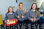 Students Susanna Palis, Demi Quirke and Bridget Flahivein from the Tarbert Comprehensive School with their project for the Young Scientist about straws and the effects it has on the environment