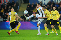 Kristoffer Peterson of Swansea City in action during the Sky Bet Championship match between Swansea City and Millwall at the Liberty Stadium in Swansea, Wales, UK. Saturday 23rd November 2019