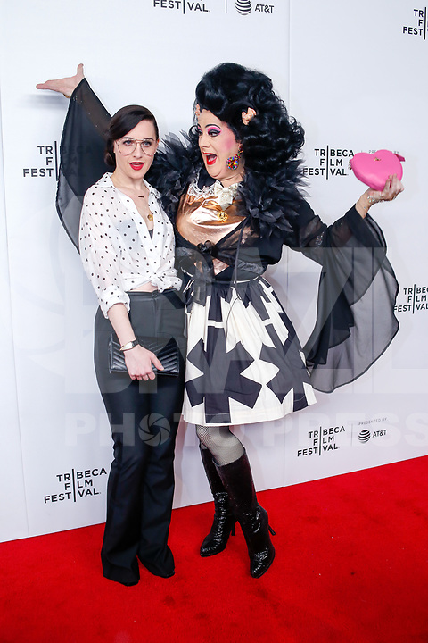 Lena Hall and Perfidia during the red carpet of the Wig movie at the Tribeca Film Festival at Spring Studio in New York this Saturday, May 04. (Photo: Vanessa Carvalho / Brazil Photo Press)