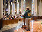 Jan. 22, 2016; The Notre Dame March For Life 2016 took place on campus with a Mass at the Basilica of the Sacred Heart followed by a march across campus and a rally at the Main Building. The student trip to Washington D.C. was cancelled due to extreme weather conditions on the east coast. (Photo by Matt Cashore/University of Notre Dame)