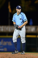 Charlotte Stone Crabs pitcher Jeff Ames (34) gets ready to deliver a pitch during a game against the Bradenton Marauders on April 22, 2015 at McKechnie Field in Bradenton, Florida.  Bradenton defeated Charlotte 7-6.  (Mike Janes/Four Seam Images)
