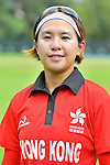 Natural Yip Sze Wan of Hong Kong poses for a photo prior to the ICC 2016 Women's World Cup Asia Qualifier match between Hong Kong vs Nepal on 09 October 2016 at the Tin Kwong Road Cricket Recreation Ground in Hong Kong, China. Photo by Marcio Machado / Power Sport Images