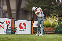 11th September 2020, Napa, California, USA;  Isaiah Salinda of the United States tees off during the second round of the Safeway Open PGA tournament on September 11, 2020 at Silverado Country Club in Napa, CA.