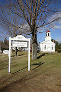 Centre Congregational Church during the autumn months. Located in Gilmanton,  New Hampshire USA.. Notes..This church is listed on the National Register of Historic Places..