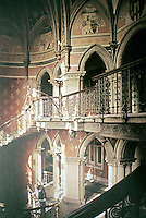 St. Pancras Station, Midland Grand Hotel, London. Grand staircase. George Gilbert Scott, 1873-76..
