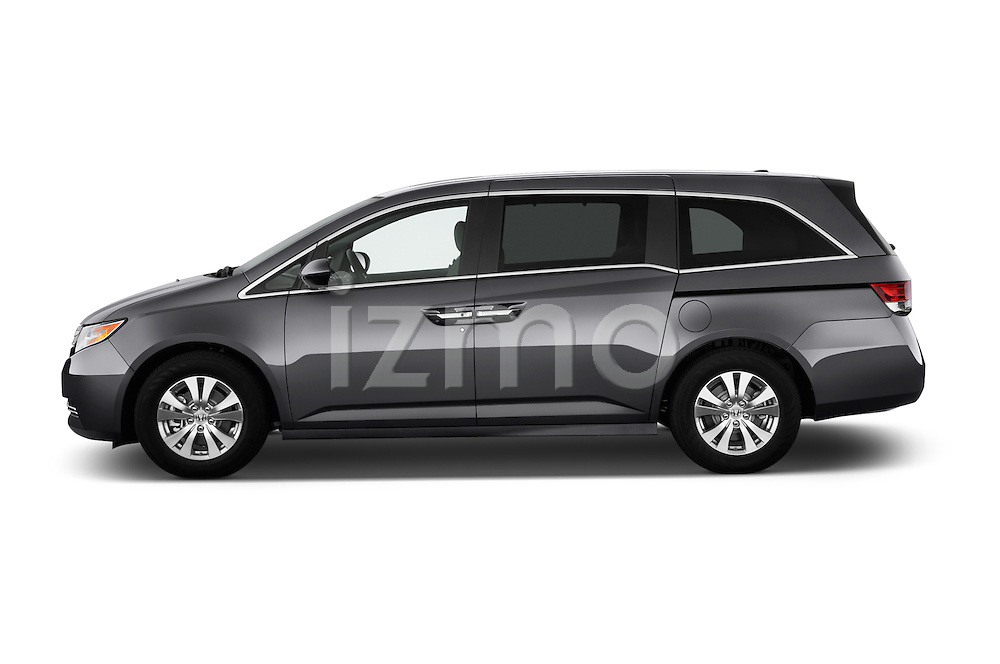 Driver side profile view of a 2017 Honda Odyssey EX-L