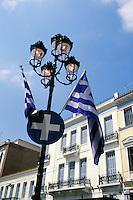 Greece, Athens, Greek flags