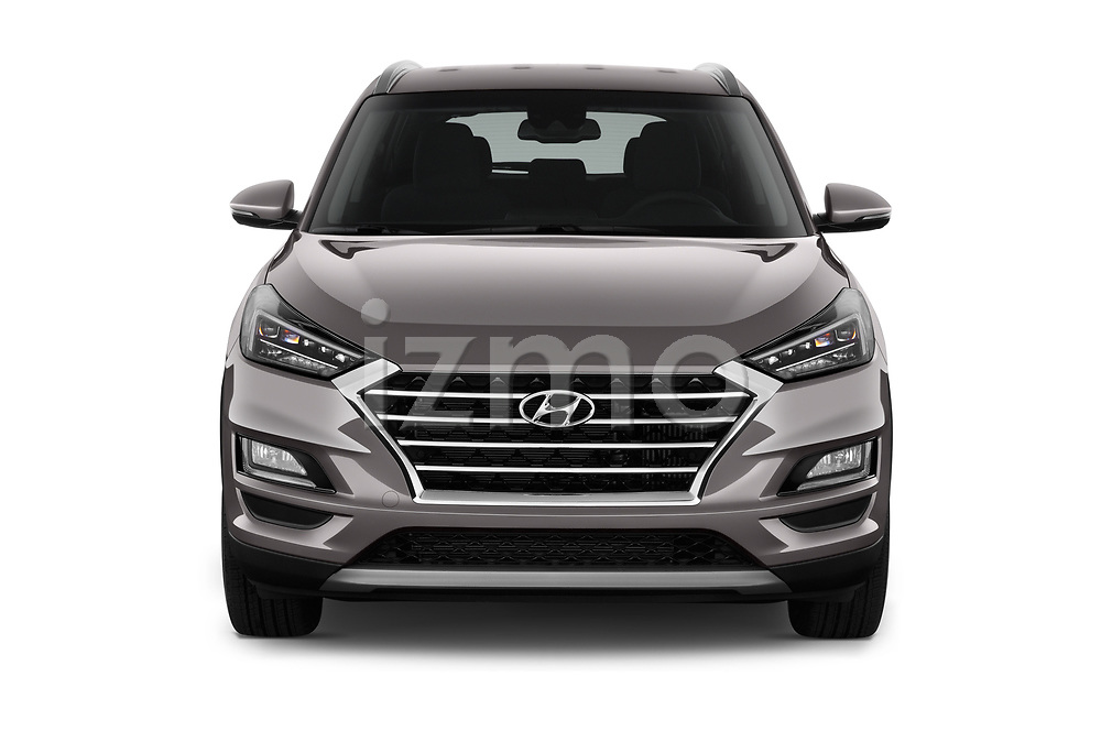 Car photography straight front view of a 2019 Hyundai Tucson Inspire 5 Door SUV Front View