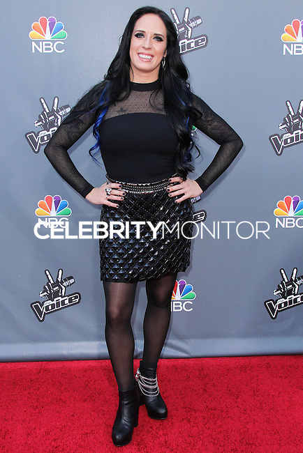 """UNIVERSAL CITY, CA, USA - APRIL 15: Kat Perkins at NBC's """"The Voice"""" Season 6 Top 12 Red Carpet Event held at Universal CityWalk on April 15, 2014 in Universal City, California, United States. (Photo by Xavier Collin/Celebrity Monitor)"""