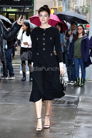 NEW YORK, NY- OCTOBER 31: Ella Hunt seen exiting Build Series in New York City on October 31, 2019. Credit: RW/MediaPunch