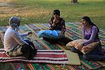 Israel, Negev, Bedouin women at Arad Park