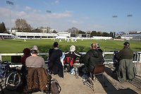 Spectators watch the first match of the 2012 season at the Ford County Ground - Essex CCC vs Surrey CCC - Friendly Cricket Match at the Ford County Ground, Chelmsford, Essex - 21/03/12 - MANDATORY CREDIT: Gavin Ellis/TGSPHOTO - Self billing applies where appropriate - 0845 094 6026 - contact@tgsphoto.co.uk - NO UNPAID USE.