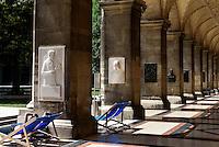 Arkadenhof der Universität auf dem Universitätsring, Wien, Österreich, UNESCO-Weltkulturerbe<br /> Arcades of  university, Vienna, Austria, world heritage
