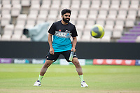 Ajaz Patel, New Zealand during a training session ahead of the ICC World Test Championship Final at the Hampshire Bowl on 17th June 2021