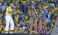 Singers Pitbull, J-Lo (Jennifer Lopez) and Claudia Leitte perform at the opening ceremony of the 2014 FIFA World Cup