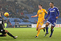 Kenneth Zohore of Cardiff City scores his sides second goal of the match during the Sky Bet Championship match between Cardiff City and Preston North End at Cardiff City Stadium, Wales, UK. Tuesday 31 January 2017