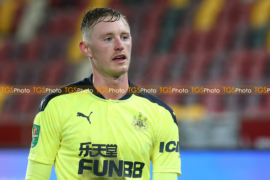 Sean Longstaff of Newcastle United during Brentford vs Newcastle United, Carabao Cup Football at the Brentford Community Stadium on 22nd December 2020