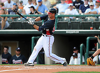 15 March 2009: Infielder Greg Norton (20) of the Atlanta Braves hits in a game against the Houston Astros at the Braves' Spring Training camp at Disney's Wide World of Sports in Lake Buena Vista, Fla. Photo by:  Tom Priddy/Four Seam Images