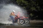 Motocross along River's Edge, Iowa