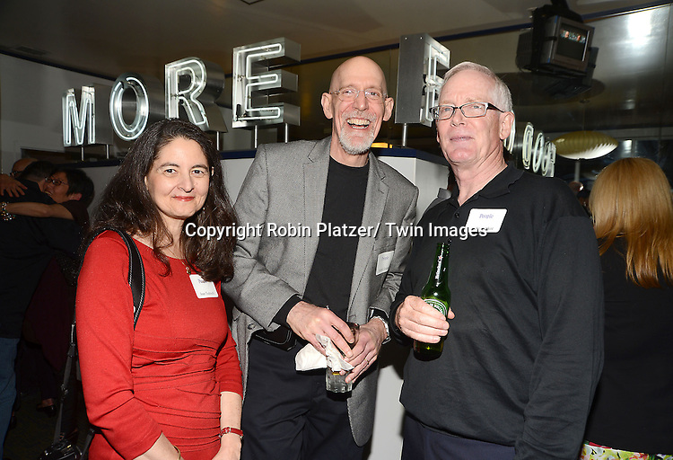 Joan, Dave and Cutler at the  People Magazine Employees Reunion on April 26, 2013 at Burger Heaven at 804  Lexington Avenue in New York City.