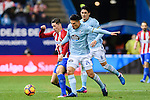 Fernando Torres (l) of Atletico de Madrid battles for the ball with Facundo Roncaglia of RC Celta de Vigo during their La Liga match between Atletico de Madrid and RC Celta de Vigo at the Vicente Calderón Stadium on 12 February 2017 in Madrid, Spain. Photo by Diego Gonzalez Souto / Power Sport Images