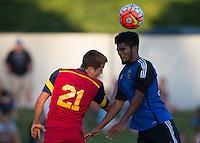 "Carson, Calif. - Thursday, July 16, 2015: U-18 Real Salt Lake vs San Jose Earthquakes during playoffs at the 2014-15 US Soccer Development Academy Finals week at Glenn ""Mooch"" Myernick Field at StubHub Center."