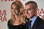 """GIAMPAOLO LETTA CON LA MOGLIE ROSSANA RIDOLFI<br /> RED CARPET - PREMIERE """"BACIAMI ANCORA """" DI GABRIELE MUCCINO - AUDITORIUM DELLA CONCILIAZIONE ROMA 2010"""