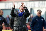 Dundee v St Johnstone....29.09.12      SPL.Steve Lomas applauds the fans at full time.Picture by Graeme Hart..Copyright Perthshire Picture Agency.Tel: 01738 623350  Mobile: 07990 594431