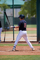AZL Indians Blue Ike Freeman (12) at bat during an Arizona League game against the AZL Indians Red on July 7, 2019 at the Cleveland Indians Spring Training Complex in Goodyear, Arizona. The AZL Indians Blue defeated the AZL Indians Red 5-4. (Zachary Lucy/Four Seam Images)