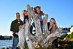 Family portrait session highlights at a Benicia beach and a hillside park for sunset.