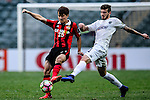 Auckland City Midfielder Fabrizio Tavano (r) fights for the ball with FC Seoul Midfielder Lee Seok Hyun (l) during the 2017 Lunar New Year Cup match between Auckland City FC (NZL) vs FC Seoul (KOR) on January 28, 2017 in Hong Kong, Hong Kong. Photo by Marcio Rodrigo Machado/Power Sport Images