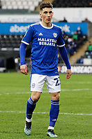 Harry Wilson of Cardiff City in action during the Sky Bet Championship match between Swansea City and Cardiff City at the Liberty Stadium, Swansea, Wales, UK. Saturday 20 March 2021