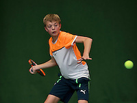 Almere, Netherlands, December 6, 2015, Winter Youth Circuit, Liam Liles (NED)<br /> Photo: Tennisimages/Henk Koster