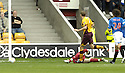 29/09/2007       Copyright Pic: James Stewart.File Name : sct_jspa02_motherwell_v_rangers.Motherwell's Chris Porter scores the opener.....James Stewart Photo Agency 19 Carronlea Drive, Falkirk. FK2 8DN      Vat Reg No. 607 6932 25.Office     : +44 (0)1324 570906     .Mobile   : +44 (0)7721 416997.Fax         : +44 (0)1324 570906.E-mail  :  jim@jspa.co.uk.If you require further information then contact Jim Stewart on any of the numbers above........