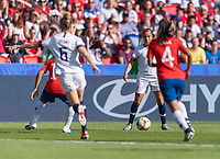 PARIS,  - JUNE 16: Mallory Pugh #2 dribbles during a game between Chile and USWNT at Parc des Princes on June 16, 2019 in Paris, France.