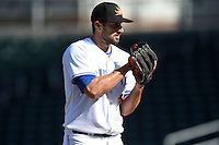 Mesa Solar Sox pitcher Blake McFarland (43) during an Arizona Fall League game against the Surprise Saguaros on October 17, 2014 at Cubs Park in Mesa, Arizona.  Mesa defeated Mesa 5-3.  (Mike Janes/Four Seam Images)