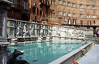 Siena:  Fountain of Joy (Fonte Gaia)--19th century copy of original--1419.  Photo '83.