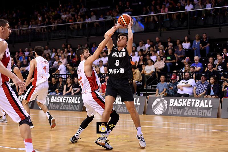 New Zealand Tall Blacks' Derone Raukawa in action during the FIBA World Cup Basketball Qualifier - NZ Tall Blacks v Syria at TSB Bank Arena, Wellington, New Zealand on Sunday 2 2018. <br /> Photo by Masanori Udagawa. <br /> www.photowellington.photoshelter.com