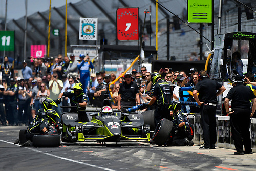 Verizon IndyCar Series<br /> Indianapolis 500 Carb Day<br /> Indianapolis Motor Speedway, Indianapolis, IN USA<br /> Friday 26 May 2017<br /> Charlie Kimball, Chip Ganassi Racing Teams Honda, pit stop competition<br /> World Copyright: Scott R LePage<br /> LAT Images<br /> ref: Digital Image lepage-170526-indy-9284