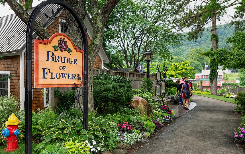 Bridge of Flowers at Shelburne Falls, Massachusetts, USA.