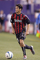 The MetroStars' Pablo Brenes. The New England Revolution were defeated by the MetroStars 3 to 2 on Saturday September 11, 2004 at Giant's Stadium, East Rutherford, NJ..
