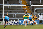 Cormac Costello, Dublin scores a penalty against Kieran Fitzgibbon, Kerry during the Allianz Football League Division 1 South between Kerry and Dublin at Semple Stadium, Thurles on Sunday.